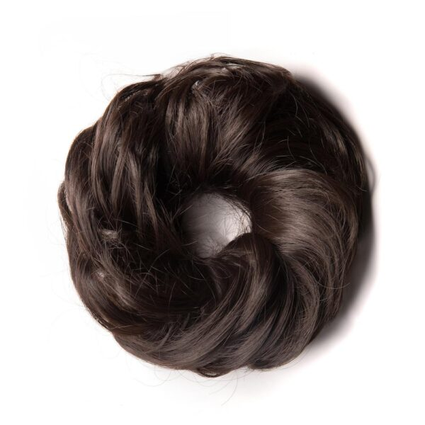 "7"" Black Messy Buns 65 Grm - Beaux Hair Extensions"