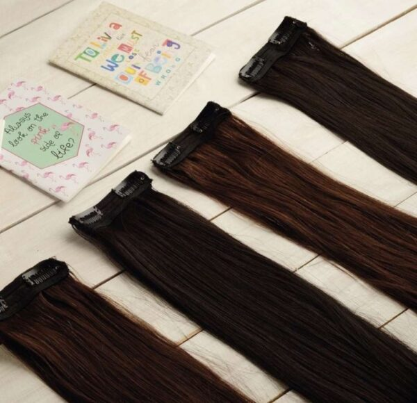 20 inch Black Side Patches - Beaux Hair   Side Patches for Volume