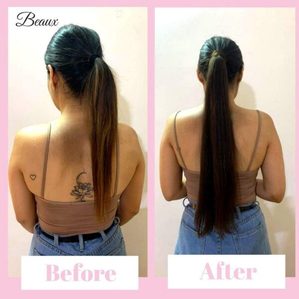 Ponytails Extensions after before